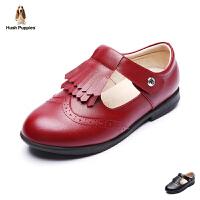 暇步士童鞋17年新款女童真皮流苏皮鞋中大童表演鞋 DP9087