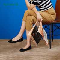 热风小清新女士时尚休闲鞋蝴蝶结浅口单鞋H07W9105