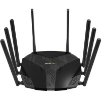 水星幻影路由D128 双频5G无线路由器家用wifi穿墙王智能光纤宽带大户型1200M 六天线wifi开关信号一键增强