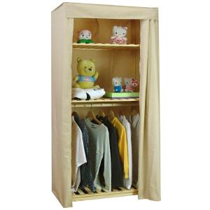 【每满100-50】宜哉 松木实木布衣柜 简易布衣橱 小衣柜 简易衣柜 卧室收纳柜