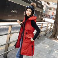 201804010108432棉衣马甲女士外套冬季新款女装韩版中长款加厚棉衣外套女潮羽绒棉