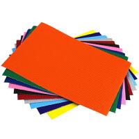 彩色瓦楞纸A4手工模型纸模儿童DIY手工纸美工纸学生波浪折纸