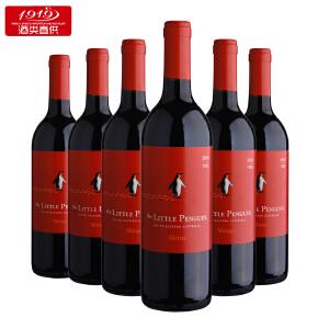 小企鹅西拉切拉子红葡萄酒整箱750ml*6半干半甜发货【1919酒类直供】