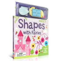英文原版 幼儿形状启蒙 Magnetic Shapes With Fairies 小仙子 磁铁玩具书 趣味读物 可以锻