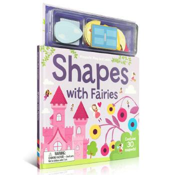 英文原版 幼儿形状启蒙 Magnetic Shapes With Fairies 小仙子 磁铁玩具书 趣味读物 可以锻炼宝宝肢体协调能力