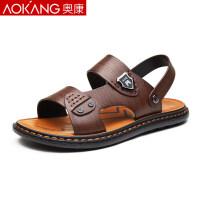 奥康凉鞋男男士休闲夏季沙滩鞋透气两用凉拖鞋凉鞋男