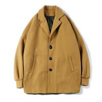 风衣男秋冬季韩版西装领帅气毛呢大衣男士潮宽松百搭呢子外套新款