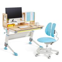2平米 骑士儿童学习桌椅套装 100cm实木书桌 可升降学生写字桌