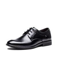 APPLE苹果2016新款正装鞋男潮流商务鞋头层牛皮尖头皮鞋 AP1606