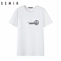 森马短袖t恤男2018夏季新款男装圆领半袖上衣青少年个性体恤衣服