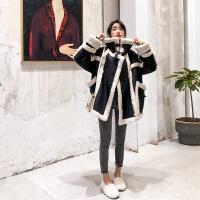 小个子羽绒服女短款2018新款韩版潮流时尚羊羔毛皮毛一体外套潮