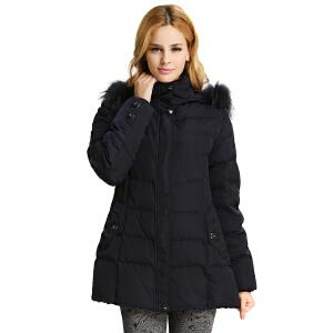 【一件三折 到手价:257.7】雅鹿羽绒服妈妈装冬装 貉子毛领中老年女装保暖加厚羽绒衣YP41321
