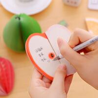 创意水果便签本9本3D立体苹果便条本便签纸无粘性可撕学生办公用方便贴纸小本子便利贴创意造型