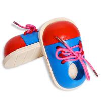 穿线小鞋子 教宝宝系鞋带幼儿早教智力木制玩具2-3-6岁