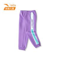 【到手价130】安踏童装女童针织运动裤2021春季新款中大童女休闲长裤362118745