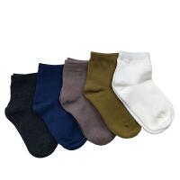 kk树新款宝宝袜子秋冬纯色男女童棉袜保暖防臭儿童袜子3-5-7-9岁