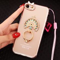 苹果7手机壳可挂脖子IPhone7S保护套带挂绳苹果7水晶镶钻4.7寸外壳