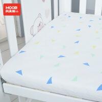 月亮船月亮船纯棉婴儿床笠加厚针织棉婴儿床单宝宝床上用品床垫罩四季通