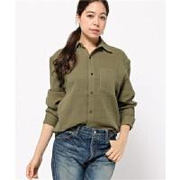 04078精品新款简约单排纽扣微宽松显瘦女纯色长袖衬衫