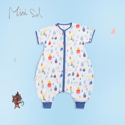 婴儿睡袋儿童纱布分腿睡袋新生儿连体衣春夏宝宝睡袋