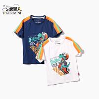 【2件3折到手价:40.8元】小虎宝儿童装男童短袖t恤韩版休闲上衣2020夏季新款儿童半袖体恤