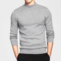 中高领毛衣男针织衫青年男式半高领毛衣修身半领秋冬款中领羊毛衫