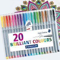 德国施德楼正品 334 SB4|10|20色绘画涂鸦插画手账彩色纤维中性笔套装彩色中性笔