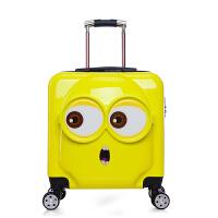 冬季小黄人拉杆箱儿童旅行箱20寸万向轮小孩密码锁行李箱立体定做LOGO秋冬新款