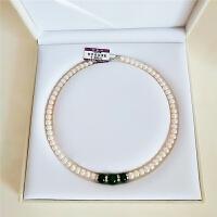 母节礼物中老年人天然淡水珍珠项链玛瑙款送妈妈婆婆长辈锁骨链