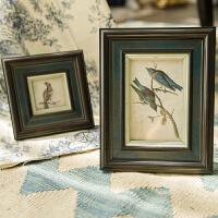美式欧式实木照片墙相框墙客厅卧室相片墙创意组合挂墙美式相框 经典花鸟系列
