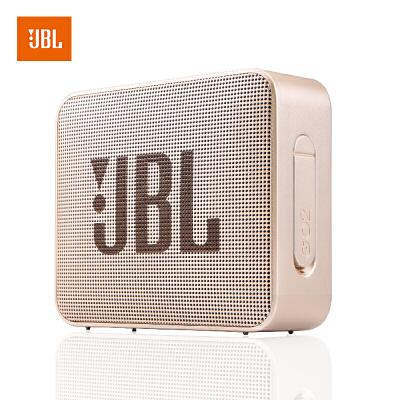 【当当自营】JBL GO2 香槟金 音乐金砖二代 蓝牙音箱 低音炮 户外便携音响 迷你小音箱 可免提通话 防水设计