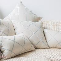 欧式客厅沙发靠枕靠背垫家用含芯抱枕腰枕套床头大靠背布艺定做