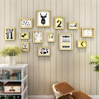 相框创意挂墙韩版一面墙十寸欧式装饰墙壁相框组合儿童客厅像框架 墙上挂墙相框组合款