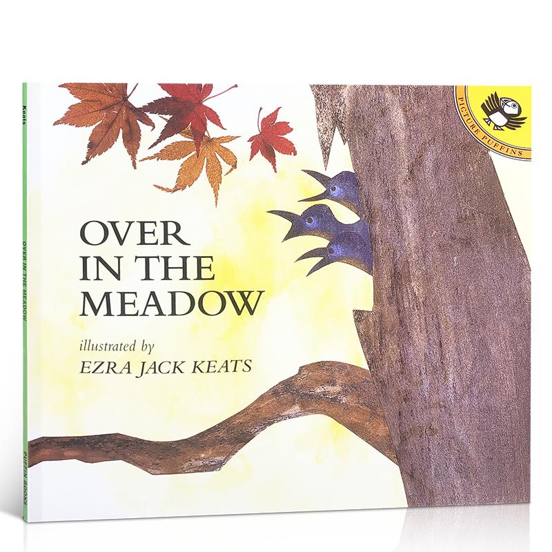 英文原版绘本 廖彩杏推荐书单Over in the Meadow 在草地上 Ezra Jack Keats在草地里,有什么?儿童启蒙绘本