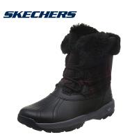 Skecher斯凯奇女鞋冬季新款防泼水雪地靴 牛皮中筒靴休闲鞋 14787