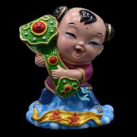 陶瓷娃娃彩塑中国梦娃泥塑泥人手工工艺品摆件