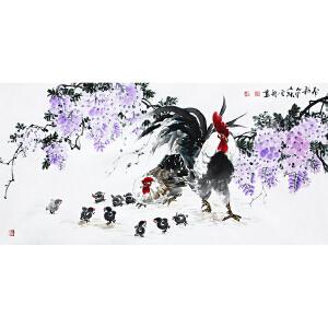 冯云龙《春韵》著名画家 有作者本人授权 带收藏证书