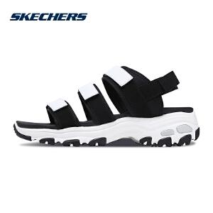 Skechers斯凯奇女鞋新款D'lites熊猫鞋 简约休闲凉鞋 66666108