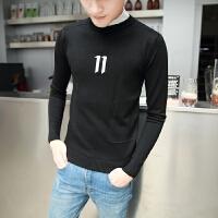 新款秋季男士毛衣韩版修身针织衫矮个子套头线衫潮XS小码学生打底