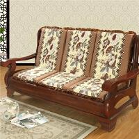 实木沙发垫四季防滑加厚海绵冬季红木沙发坐垫带靠背连体木椅垫子521928129278