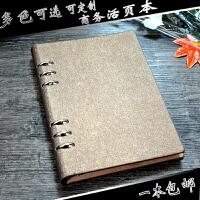 a5活页笔记本商务皮a4记事本文具夹b5日记本办公本子学生定制logo