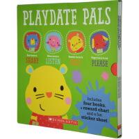 Playdate Pals Behaviours 幼儿童情商 行为启蒙绘本 4本套装 附贴纸计划表
