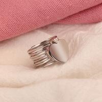 S925纯银个性网红戒指女手镯一体抖音同款变手环伸缩两用魔戒手链