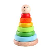 叠叠乐婴幼儿童智力玩具男孩女宝宝彩虹塔软硬堆堆乐套圈