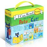 英文原版绘本 Pete the Cat Phonics 12册盒装 皮特猫 自然拼读系列 宝宝学习英语入门启蒙 i l