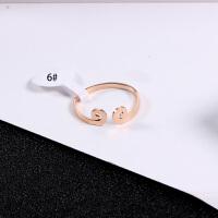 韩版18K玫瑰金紧箍咒戒指女情侣一对气质钛钢指环戒子配饰