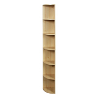 [当当自营]慧乐家 书柜书架 鲁比克六层转角组合柜 大容量储物展示柜 白枫木色 11325-1