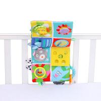 布书0-6个月早教1岁玩具撕不烂可咬动物立体床围宝宝