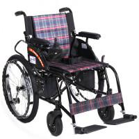 互邦轮椅车电动轮椅车铝合金可折叠手刹HBLD4-F(锂电)更多优惠搜索【好药师互邦】