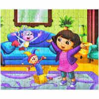200/300片儿童拼图朵拉益智力卡通拼图女孩男孩玩具4-7-8-9-10岁